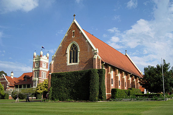 Credit: Photo by Saint Stephen's College - St Alban's Chapel, The Southport School [Photograph by Geoffrey Cox (September 2014)]