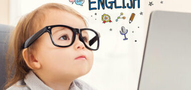 Learn,English,Concept,With,Toddler,Girl,Using,Her,Laptop